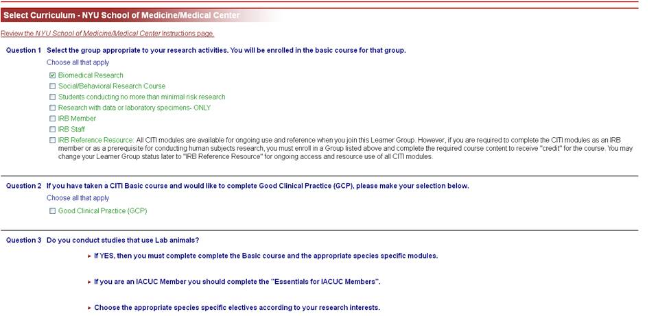 About The Citi Program For Animal Subject Researchers The